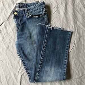 Levi's cropped raw hem straight droit Jean size 6